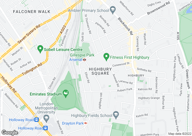 Map for Weststand Apartments, Highbury Stadium Square, London, N5