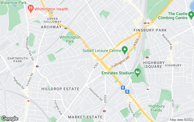 Map for Drivers & Norris, Holloway Road - Sales