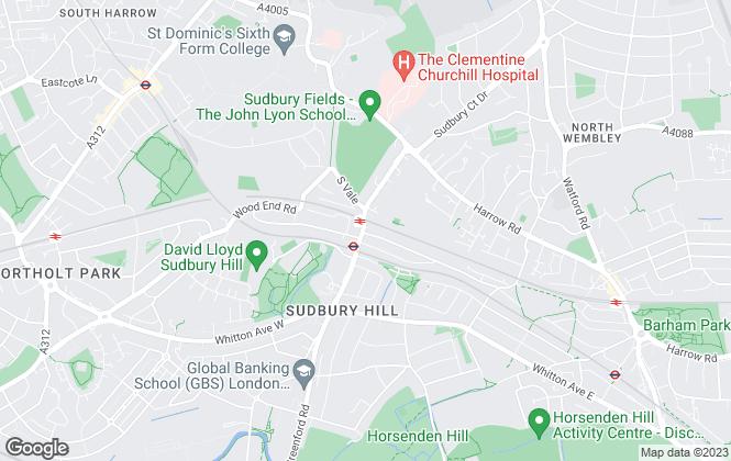 Map for Brian Cox, Wembley/Harrow
