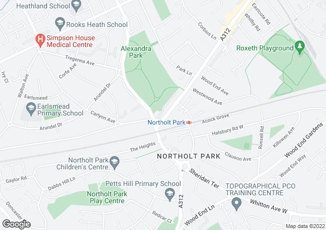 Map for Northolt Road, HARROW