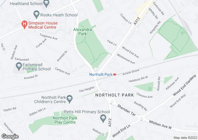 Map for Golden Sip, Northolt Road, South Harrow, Middlesex