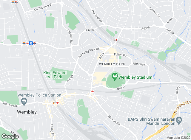 Map for Wembley City Residential Sales and Lettings Ltd, Wembley