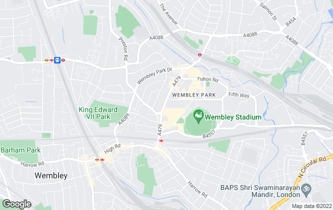 Map for Wembley Park Residential Ltd, Wembley
