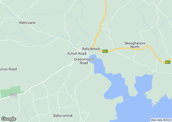 Map for Cork, Ballydehob