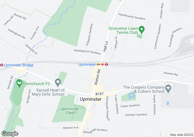 Map for Station Road , Upminster