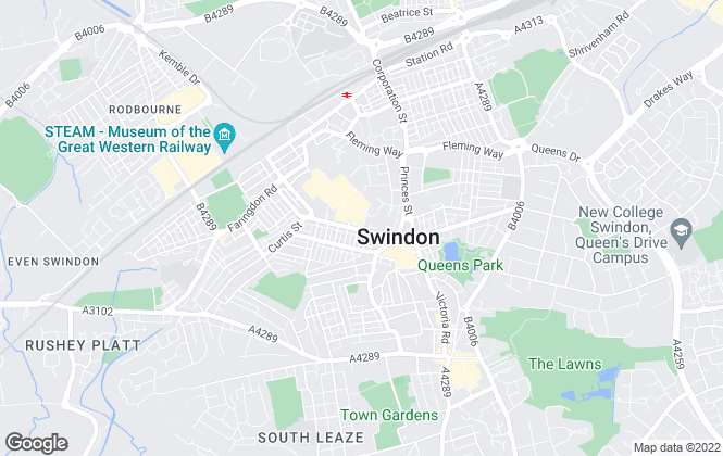 Map for Primary Homes and Lettings, Swindon