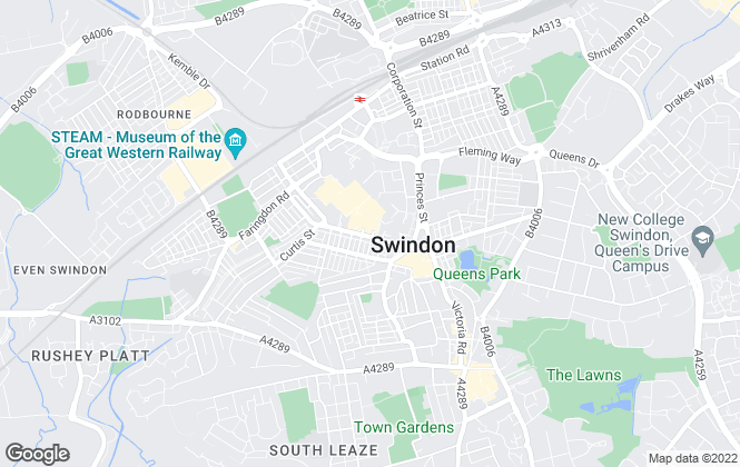 Map for Parkers Estate Agents, Swindon