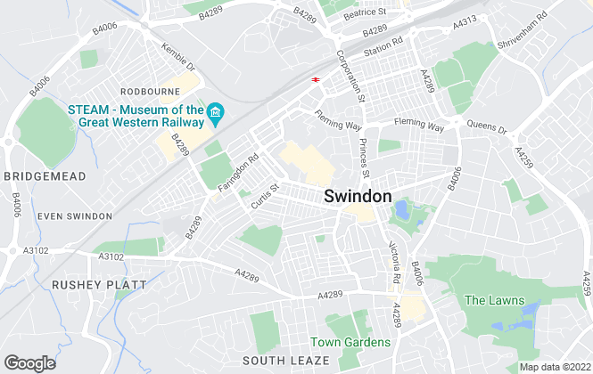 Map for Easy Property, Swindon