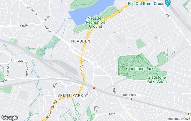 Map for Hoopers, Neasden