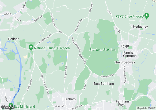 Map for Dorney Wood Road, Burnham, Buckinghamshire, SL1
