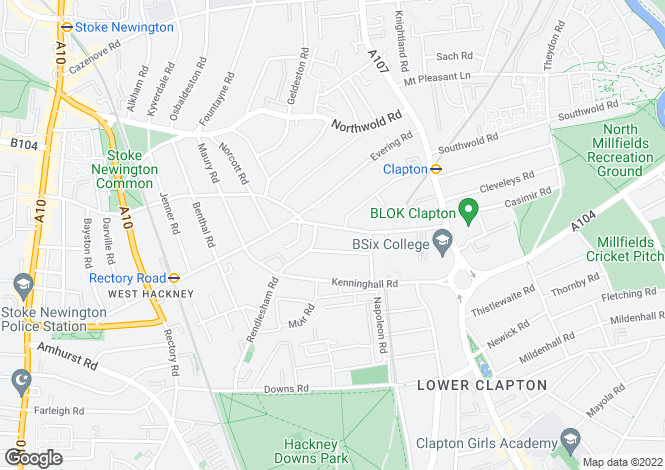 Map for Brooke Road, Stoke Newington, E5