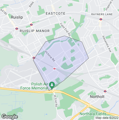 Map of property in South Ruislip