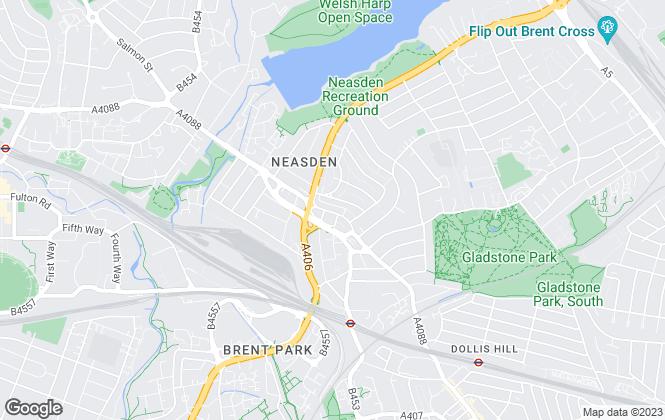 Map for Daniels, Dollis Hill & Neasden