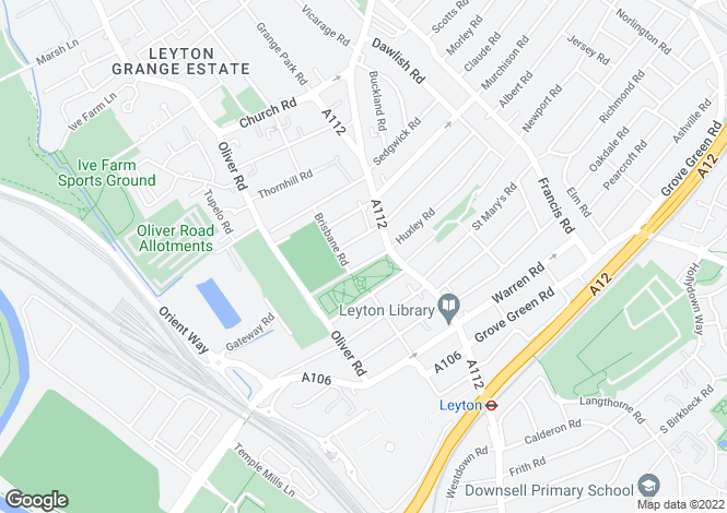 Map for OLYMPIC PROPERTY, Buckingham Rd, Leyton, E10