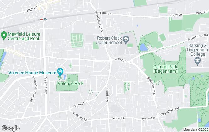 Map for Courtney Rose Williams, Dagenham