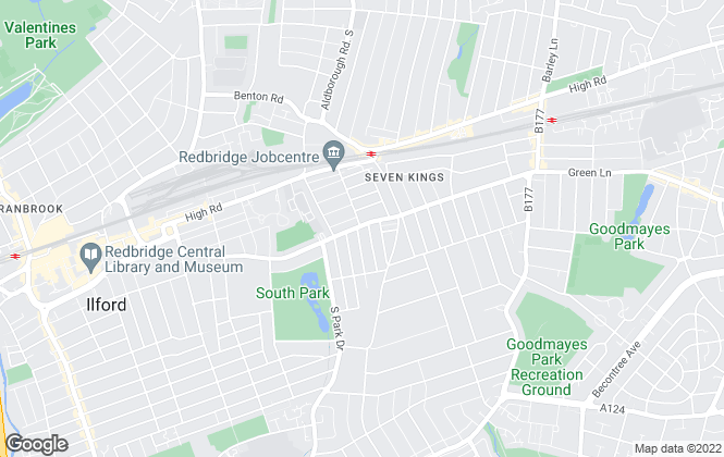 Map for A I G Estates, Ilford