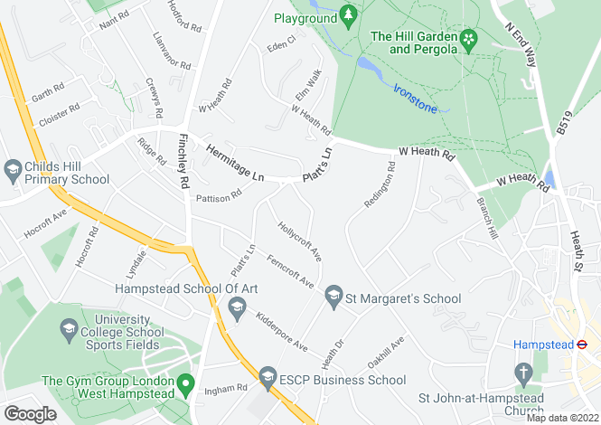 Map for Rosecroft Avenue Hampstead NW3