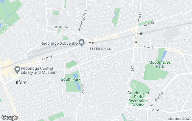 Map for Brianthomas Estate Agents, Seven Kings