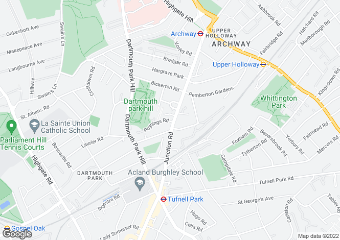Map for Junction Road,