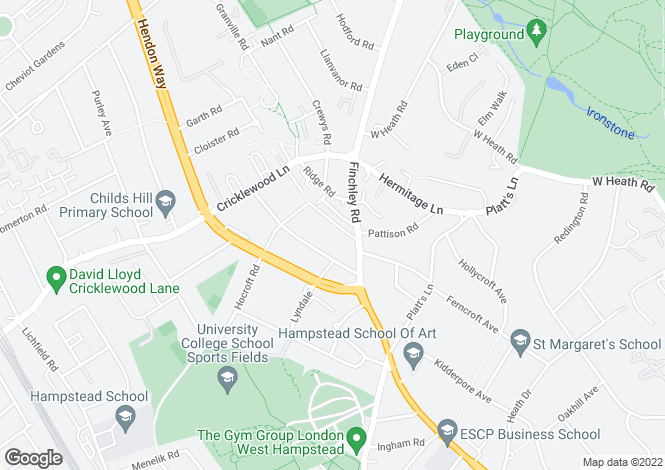 Map for Church Walk, Childs Hill, London, NW2