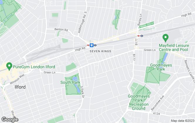 Map for Sandra Davidson Estate Agents, Seven Kings