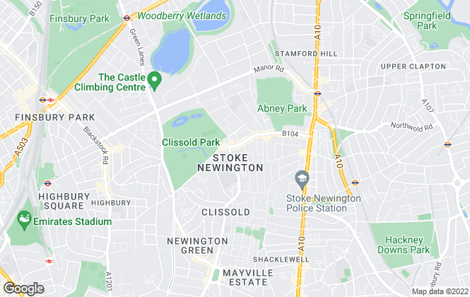 Map for Hunters, Stoke Newington