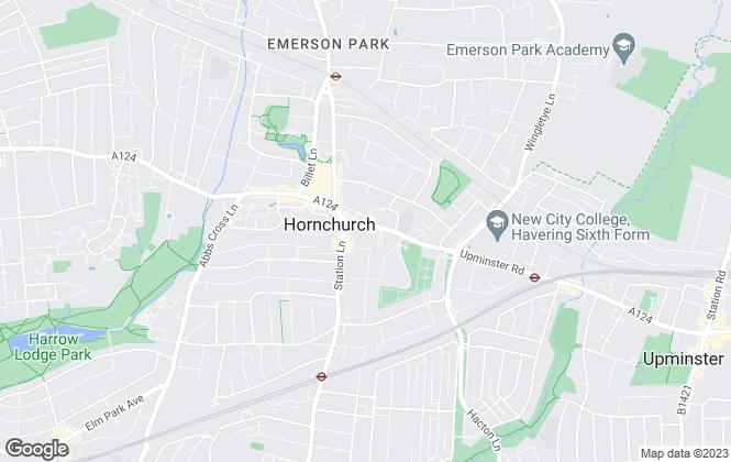 Map for Stephensons, Hornchurch