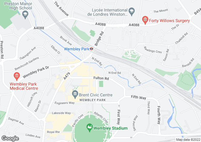 Map for College Of North West London, North End Road, Wembley, London, HA9