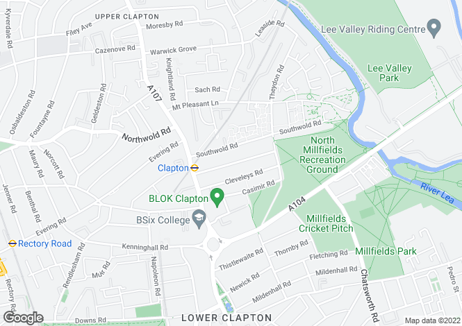 Map for Gunton Road, E5