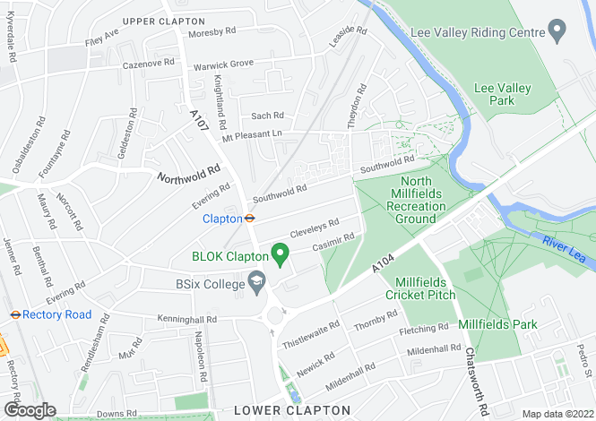 Map for Gunton Road