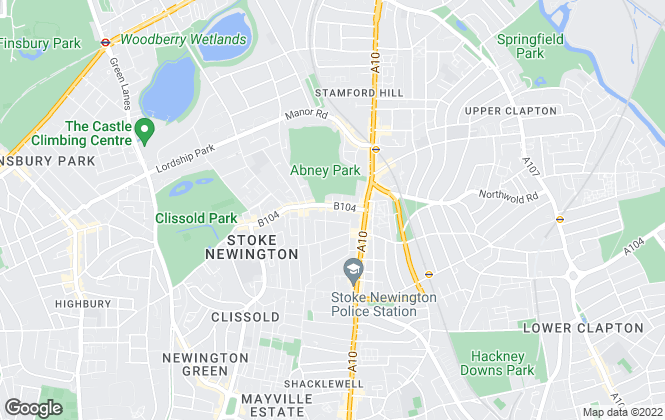 Map for Next Move, Stoke Newington