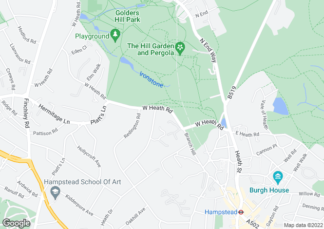 Map for Heath Park Gardens, 18 Templewood Avenue, Hampstead, London, NW3