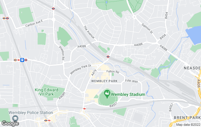 Map for Hunters, Wembley Park