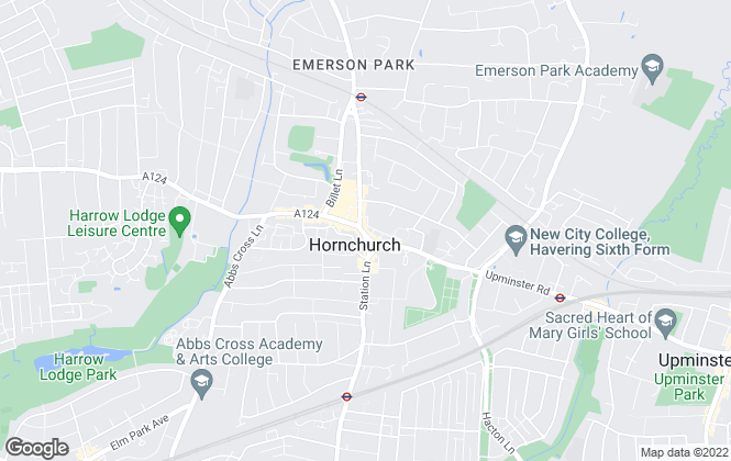 Map for Beresfords, at Hornchurch