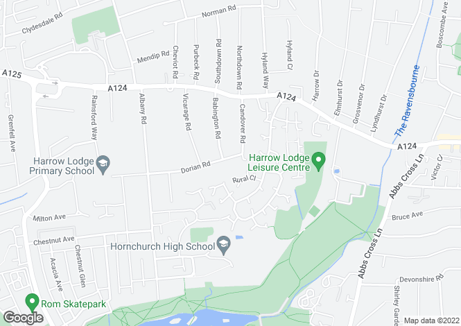 Map for Dorian Road, Hornchurch