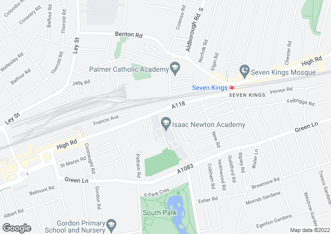 Map for 506 High Road, Ilford, IG1 1UE