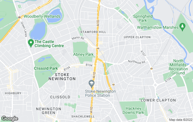 Map for Upper Class Estates, Stoke Newington