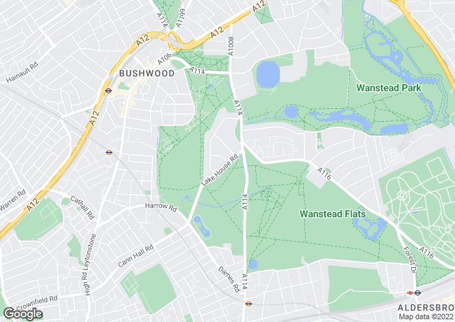 Map for Lake House Road, Wanstead, London, Greater London, E11