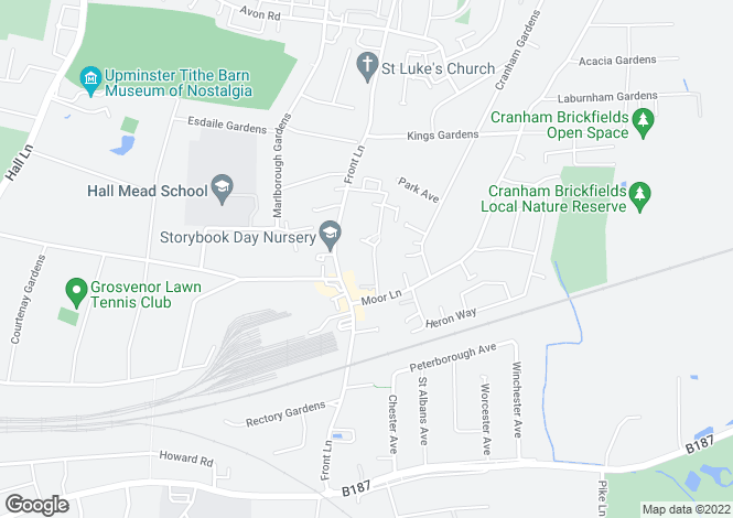 Map for Chipperfield Close, UPMINSTER, Essex, RM14 3EA
