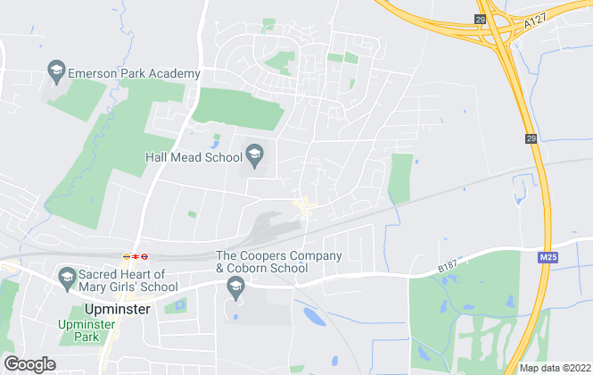 Map for Accord Sales & Lettings, Upminster
