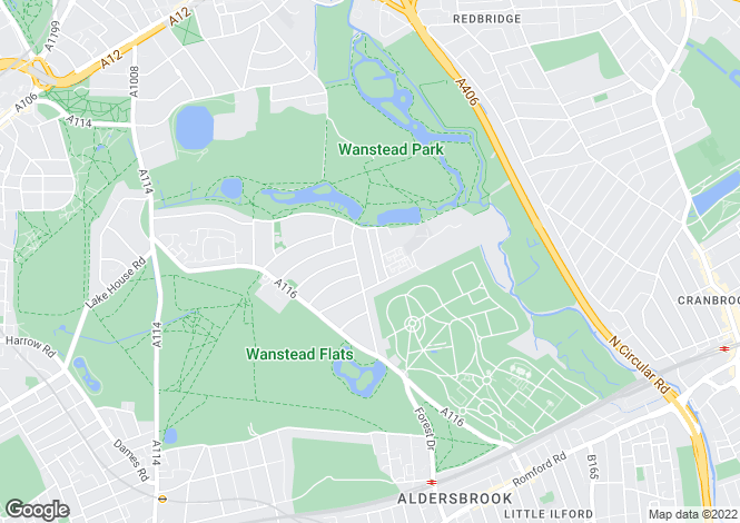 Map for Clavering Road, Aldersbrook