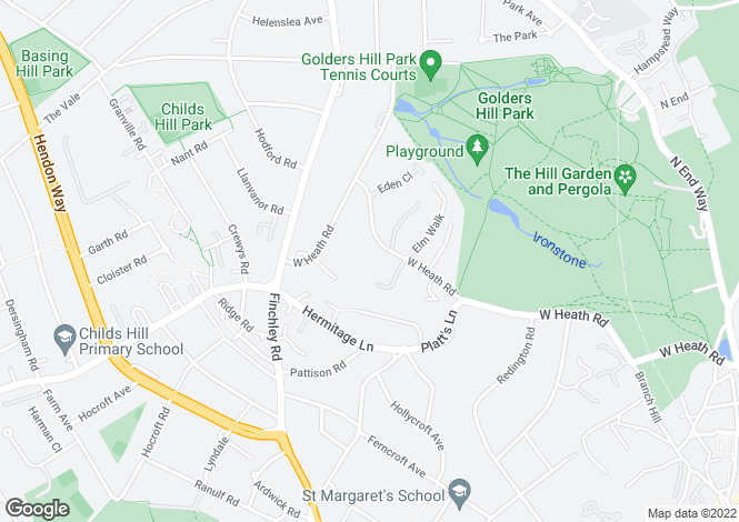 Map for West Heath Road NW3