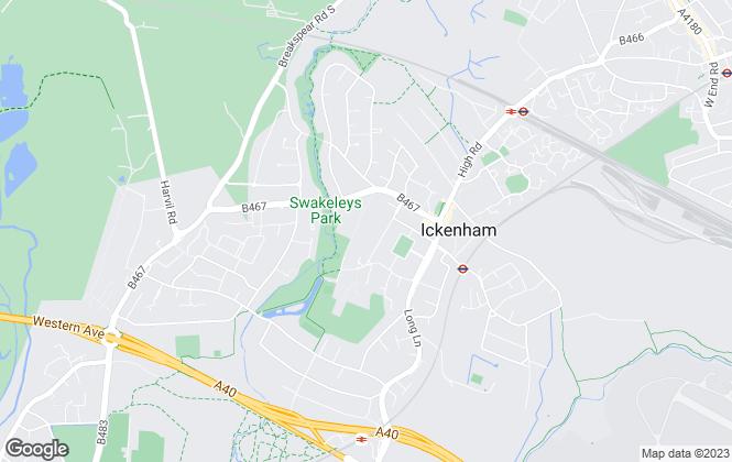 Map for Coopers, Ickenham