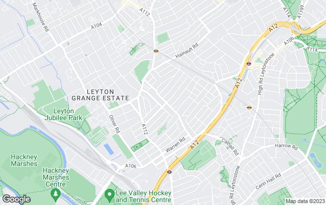 Map for Estates10, Leyton and Leytonstone