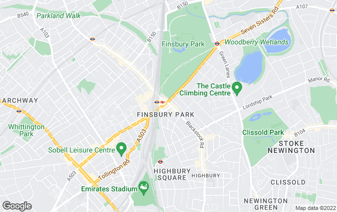 Map for ludlowthompson, Finsbury Park