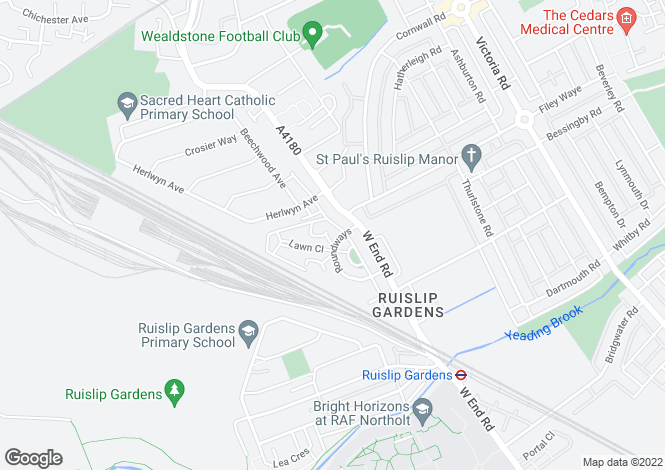 Map for Roundways, Ruislip, HA4
