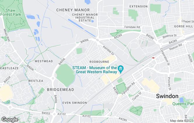 Map for Amanda Jones, Swindon