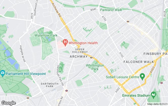 Map for Hanley Estates Ltd, London