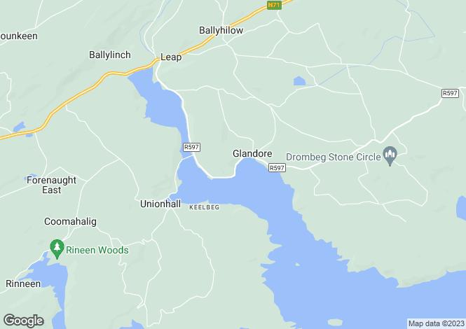 Map for Glandore, West Cork