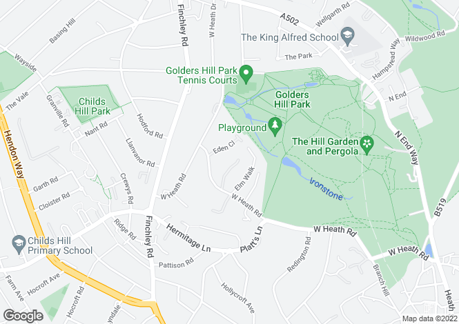 Map for Westover Hill,